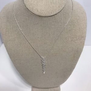 Stella dot silver reversible delicate necklace